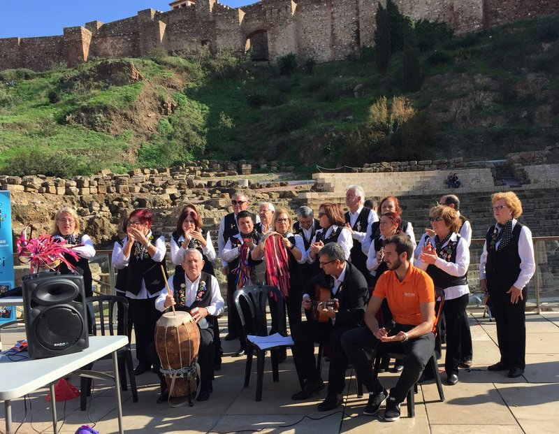 Malaga Old Town Folk Choir in front of Roman Ruins