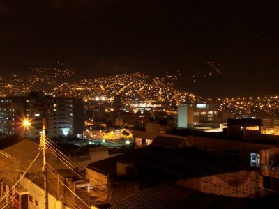 My first view of Quito.....at night