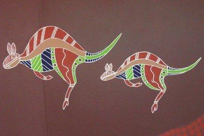 Funky Aboriginal Kangaroos