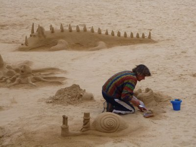 Algarve: Sand sculpting