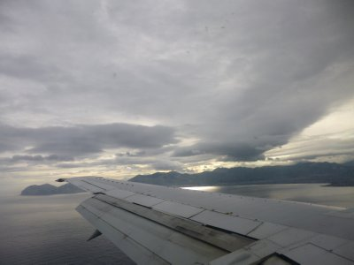 Sicily: Our first view flying in near Palermo