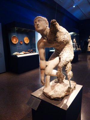 Antikythera Shipwreck: Half of the Statue perfectly preserved
