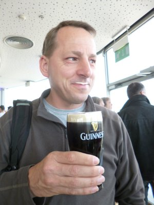 Guinness Storehouse: Enjoying the 'free' pint at the end of the tour