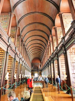 Trinity College: library