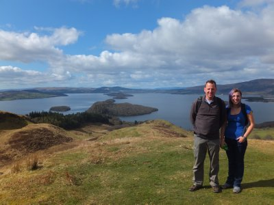 View of Loch Lomond near the top of Conic Hill