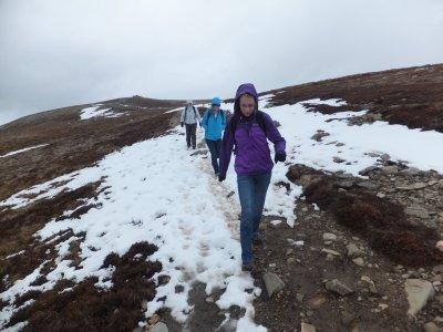 Meall a' Bhuachaille Route near Summit