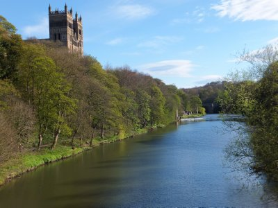 Durham Cathedral Overlooking River Wear
