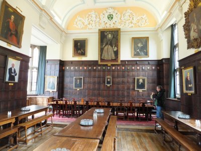 Jesus College at Oxford: the dining hall