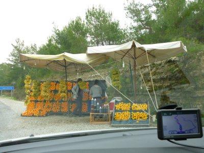 Fruit Sellers Along the Highway to Konya