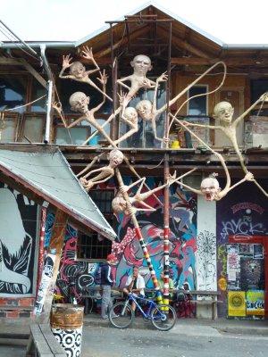 Ljubljana: alternative art area of Metelkova