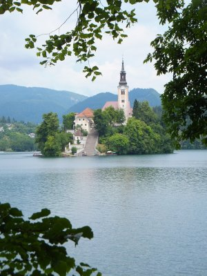 Lake Bled with island church