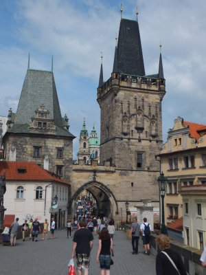 Gate at the end of Charles Bridge