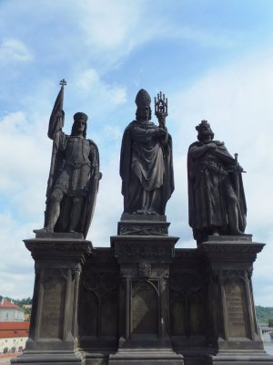 Statuary on Charles Bridge