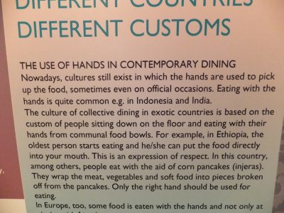 Culinary Customs in other Countries