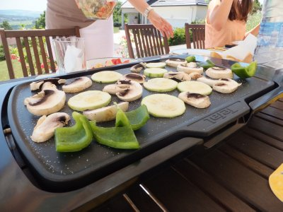 Summer Eating: Plancha for Grilling Veggies as You Talk Together