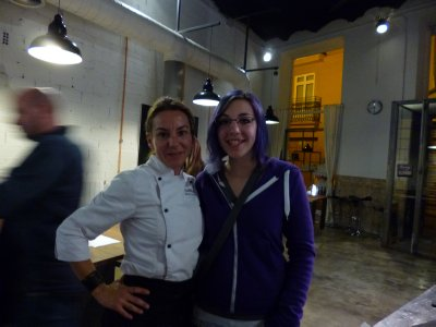 Valencia: Hannah with her Chef Instructor