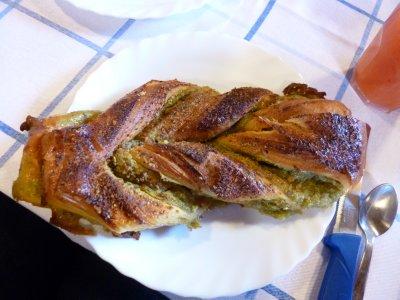 Floridia pistachio breakfast pastry