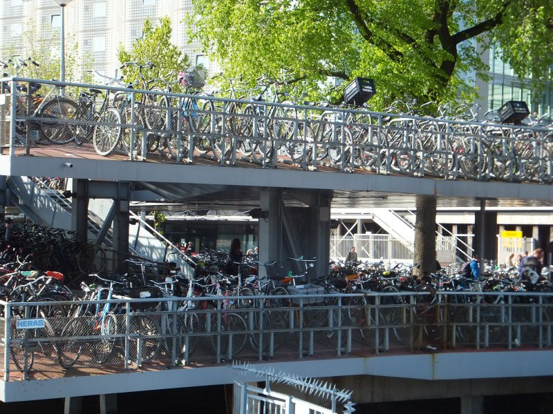 Bike Parkade in Amsterdam