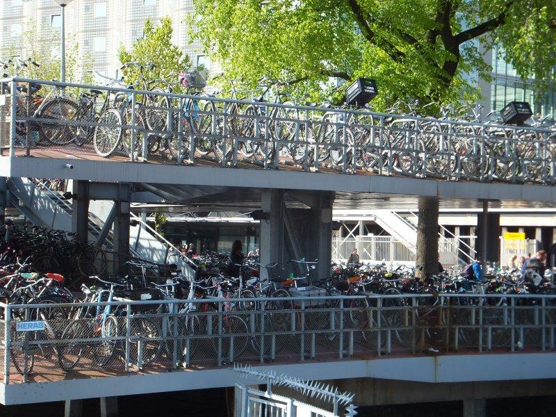 Bike Parkade in Amsterdam
