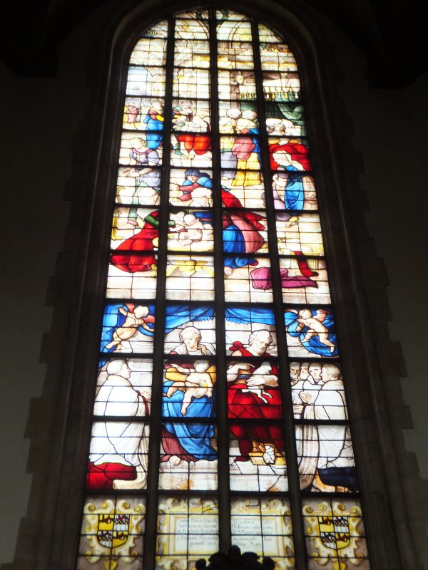 Stained Glass in Sint Janskerk in Gouda
