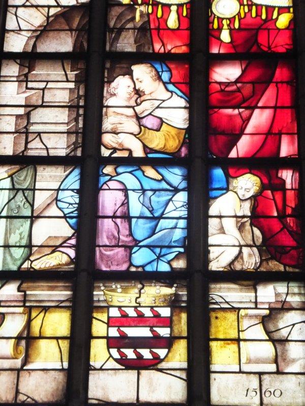 Stained Glass in Sint Janskerk in Gouda
