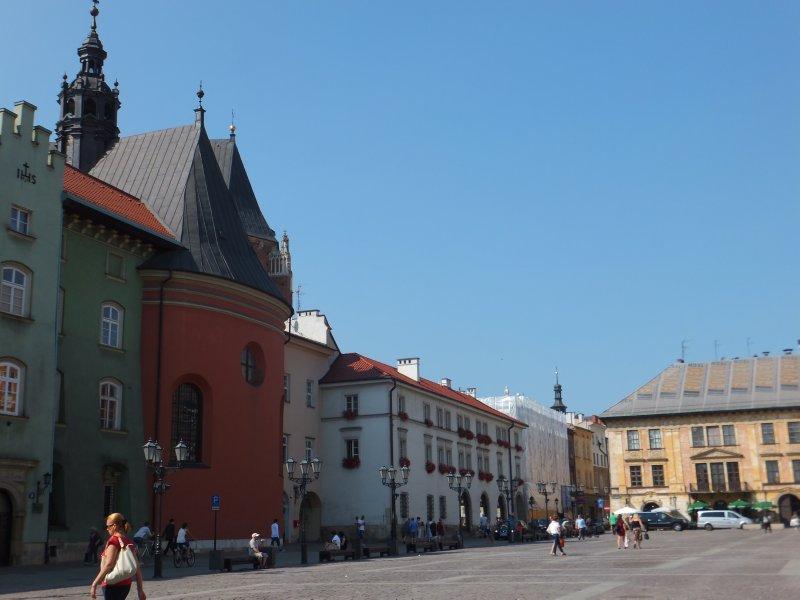 Buildings Along a Street in Krakow