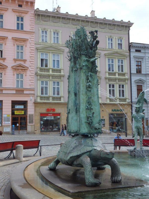 Olomouc Modern Town Fountain