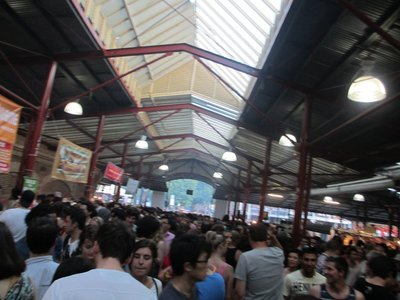 crowd at the night market
