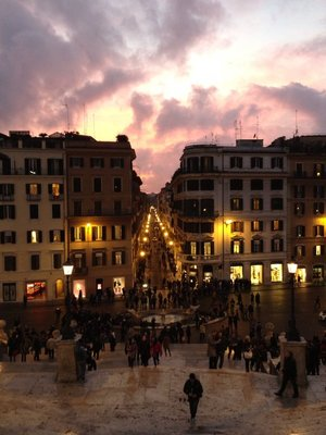 Beautiful Sunset on my last day in Rome