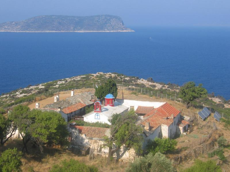 Alonissos, Kyra Panagia, Monastery