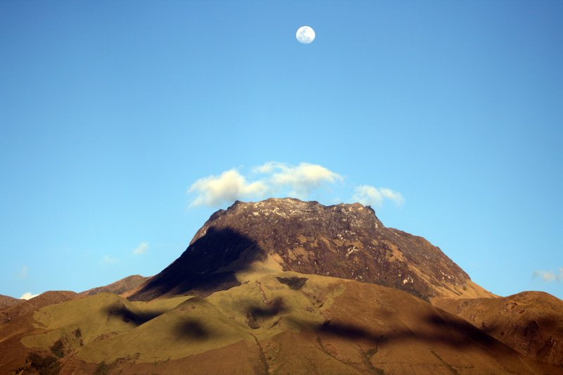 Mount Imbabura Under a Full Moon