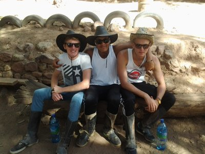 will, bamba and chris ready for some horse riding!