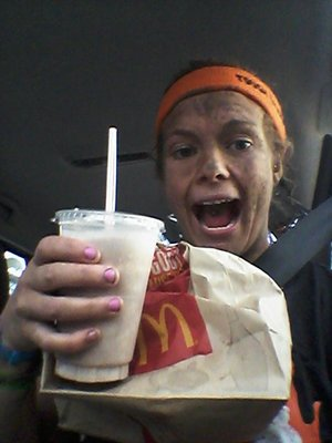 celebrating with a maccerz on the way home!