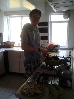 cooking tea