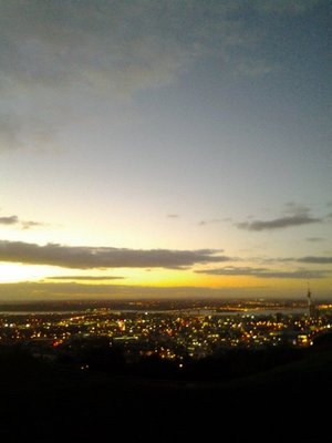 view of Auckland from Mt Eden