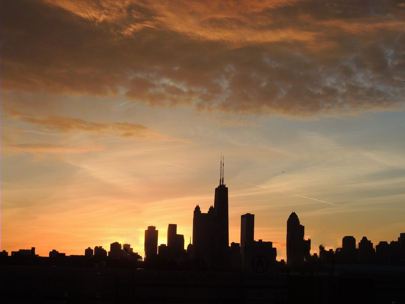 Chicago Skyline Sunrise