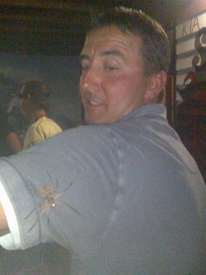THERE'S A SPIDER ON YA BACK MATE..!!