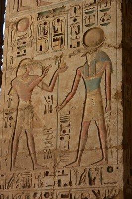 Egypte--Luxor-Medinat Habu tempel (2)