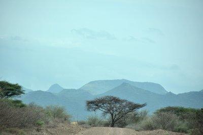 Ethiopie-landschap onderweg