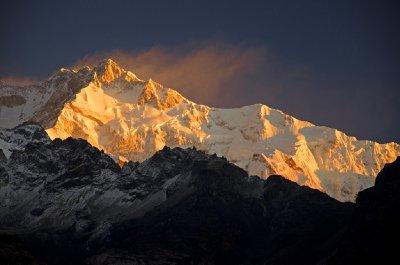 First Light on Mt. Kanchanjunga