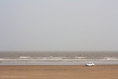 The vast ocean and the car