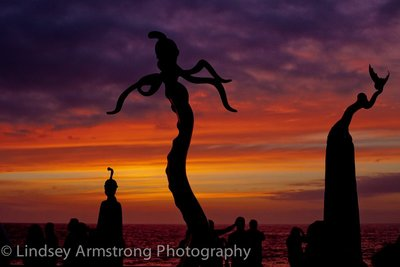 Sculptures in Sunset