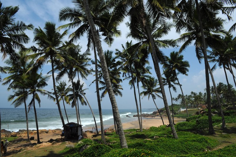 Nature's hide & seek at Kovalam Beach