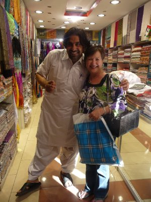 Afghani shopkeeper in the textile souk
