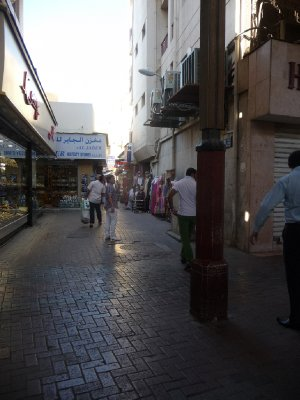 Alleyways of shops in Old Dubai