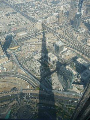 Shadow of Burj Khalifa