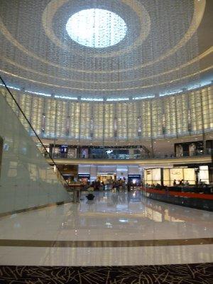 Huge Rotundas are commonplace in Dubai Mall