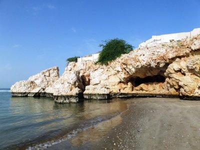 Walk to private beach rocks 3