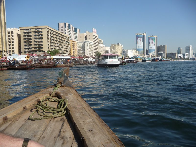 View from on board an abra - water taxi