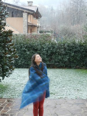 It's Snowing! In the Garden Revelling in the Wonder of Snow!